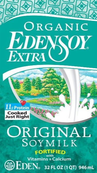 Edensoy Extra by Eden Foods - vegan milk substitutes, plant milk, lactose free milk, vegan milk alternatives, non dairy milk, dairy free milk