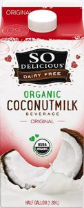 So Delicious Organic Coconut Milk - vegan milk substitutes, plant milk, lactose free milk, vegan milk alternatives, non dairy milk, dairy free milk