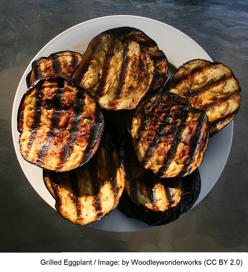 Grilled Eggplant - Best vegan meat substitutes