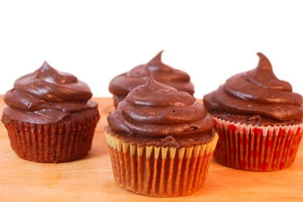 Vegan Chocolate Cupcakes with Avocado Frosting