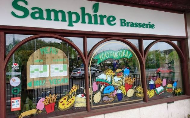 Samphire Brasserie—Devon, UK - best vegan restaurants, top vegan restaurants, vegan restaurant guide