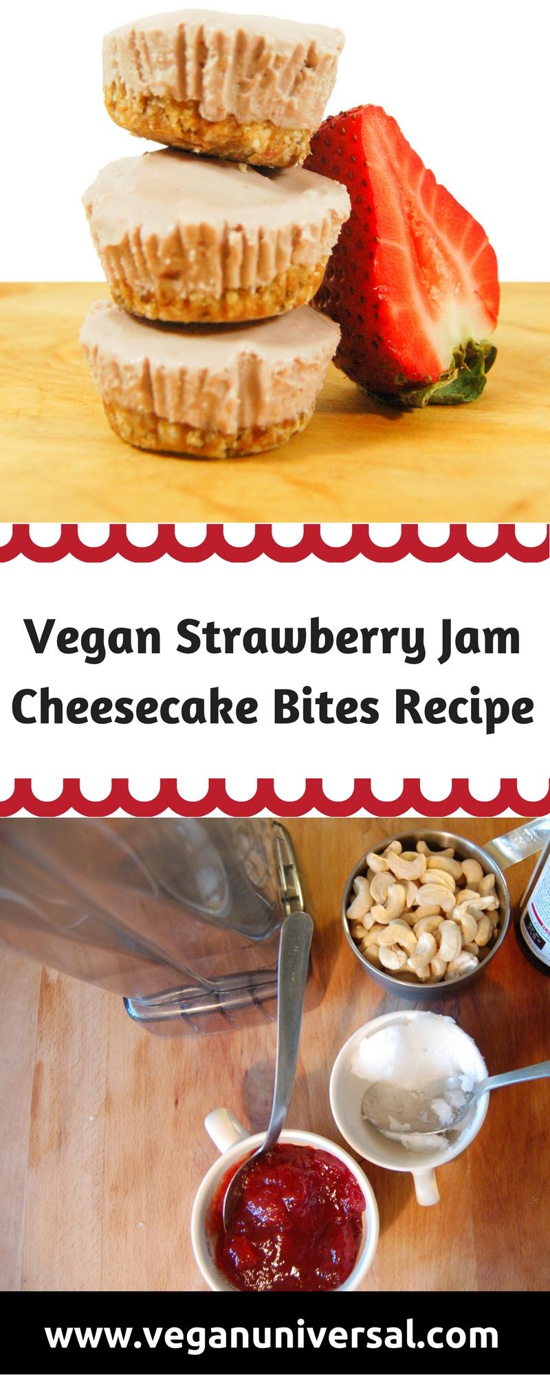 Vegan Strawberry Jam Cheesecake Bites Recipe