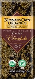Newman's Own Organics Premium Dark Chocolate 70% Cocoa Review