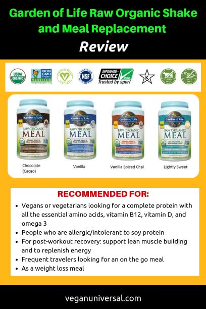 Garden of Life Raw Organic Shake and Meal Replacement Review