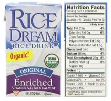Organic Original Enriched Rice Dream Rice Milk Drink Review