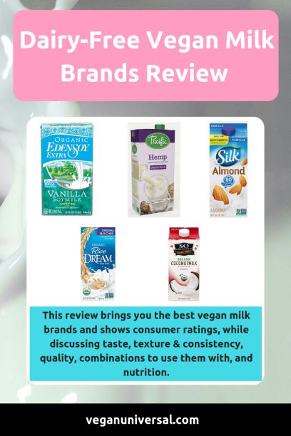 Dairy-Free Vegan Milk Brands Review