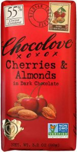 Chocolove Cherries & Almonds in Dark Chocolate Bar 55% Cocoa
