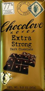 Chocolove 77% Extra Strong Dark Chocolate Bar