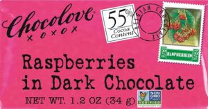 Chocolove Raspberry Dark Chocolate 55% Cocoa