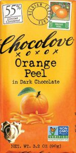Chocolove Orange Peel in Dark Chocolate 55% Cocoa