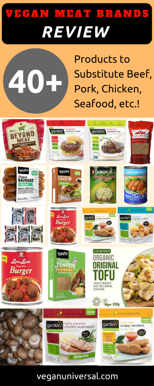 Vegan Meat Brands Review, Vegan Meat Substitutes