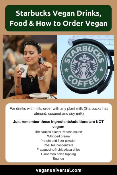 Starbucks Vegan Drinks, Food and Other Menu Options!
