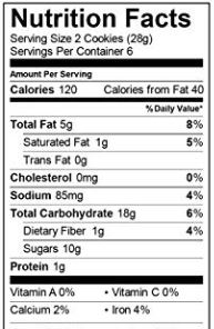 Enjoy Life Soft Baked Chocolate Chip Cookie Nutrition Facts