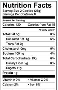 Enjoy Life Soft Baked Double Chocolate Brownie Cookie Nutrition Facts