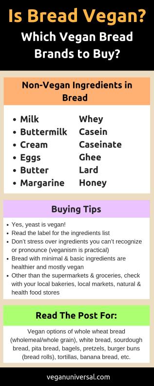 Pinterest Pin: Is Bread Vegan? Which Vegan Bread Brands to Buy?
