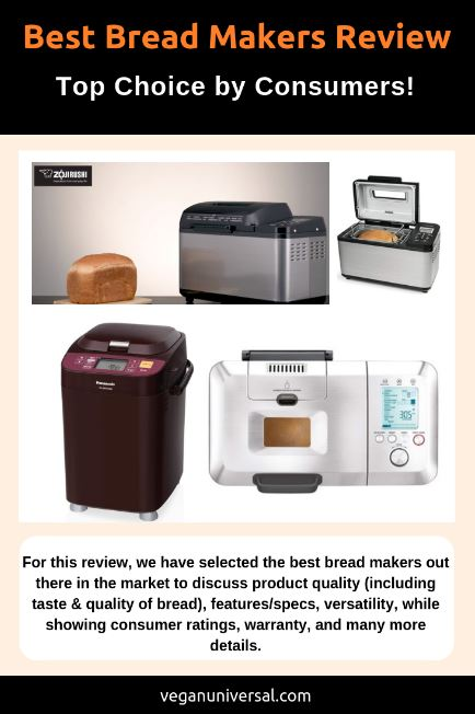 Pinterest Pin: Best Bread Makers Review 2018 (Top Choice by Consumers!)
