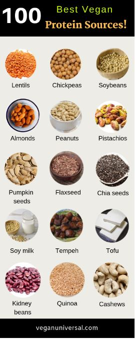 Pinterest PIn: Best Vegan Protein Sources to Keep You Healthy!