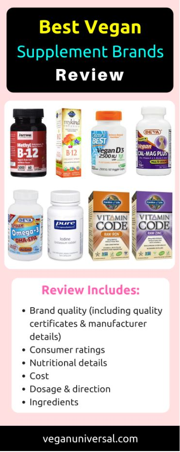 Best Vegan Supplement Brands Review 2019 | Vegan Universal