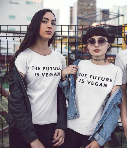 Vegan Women's T-Shirts: The Future is Vegan