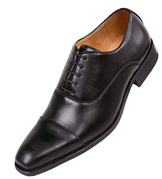 Men's Vegan Faux Leather Formal Oxford Dress Shoes