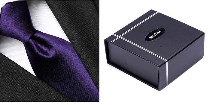 Vegan Solid Tie Set, Pocket Square (non-silk, cruelty-free)