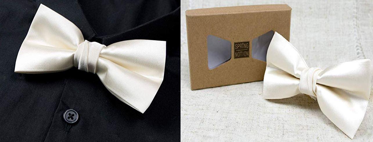 Men's Solid Color Microfiber Vegan Bow Tie (non-silk, cruelty-free)