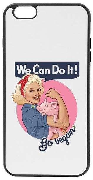 Go Vegan - We Can Do It–White & Black Phone Case Cover For iPhone, Samsung, and Huawei