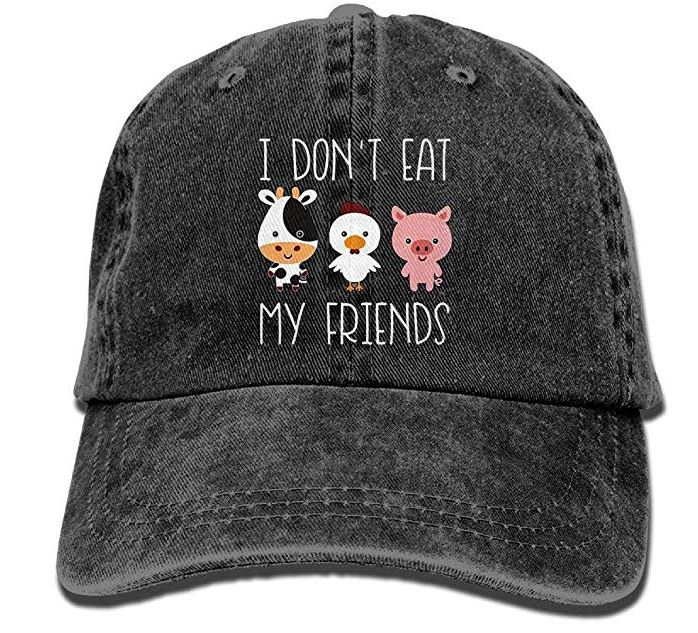 I Don't Eat My Friends–Vegan Baseball Hat