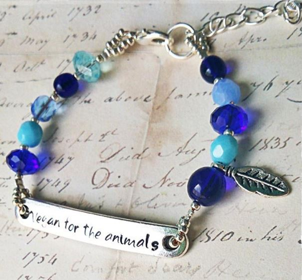 Vegan for the Animals– Women's Vegan Bracelet with Vegan Message
