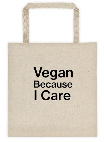 Vegan Tote Bag with Vegan Message