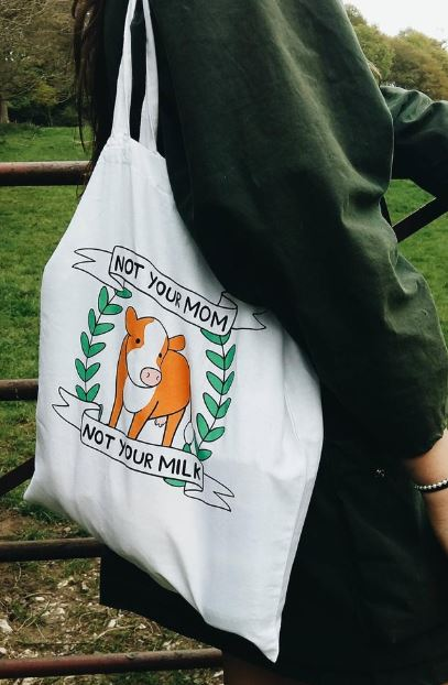 Not Your Mom, Not Your Milk–Vegan Tote Bag