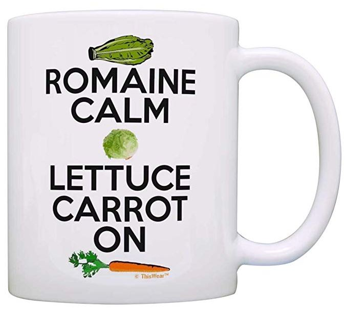 Romain Calm Lettuce Carrot On–Vegan Coffee/Tea Mug
