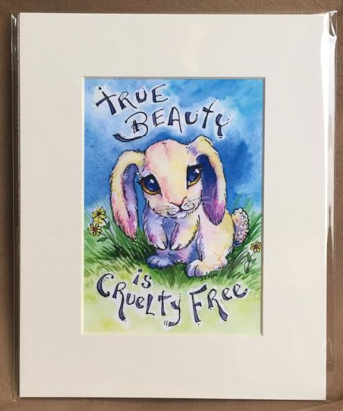 True Beauty is Cruelty-Free–Vegan Art Print