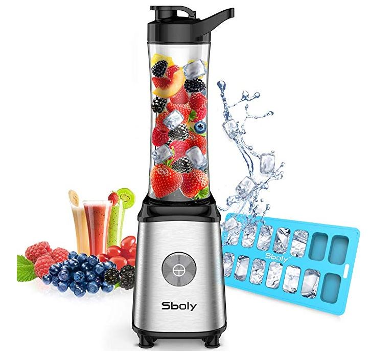Sboly Single Serve Small Blender for Juice, Shakes, and Smoothies with 20 oz Tritan BPA-Free Blender Cup