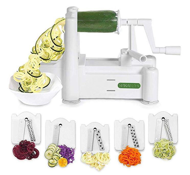 5-Blade Vegetable Slicer & Veggie Pasta Spaghetti Maker