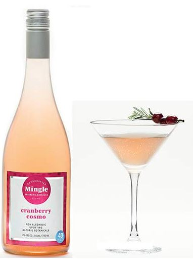 Mingle Cranberry Vegan Cosmo (as a non-alcoholic drink or for vegan cocktails)