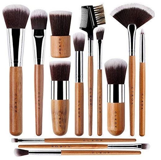 Bamboo Makeup Brushes Professional Set - Vegan & Cruelty-Free