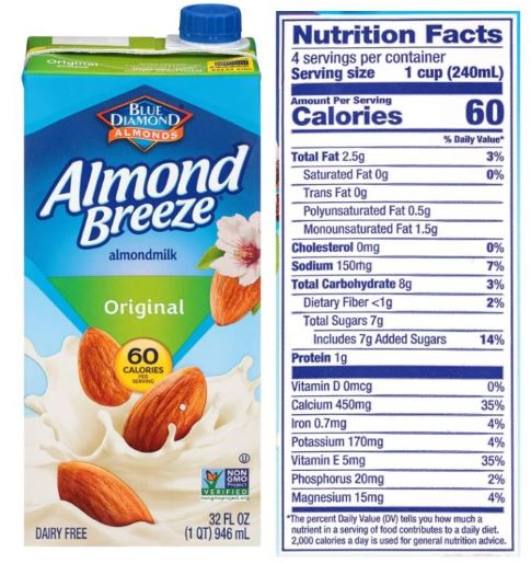 Almond Breeze Dairy Free Original Almond Milk Review