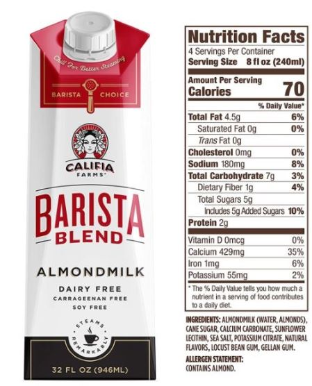 Califia Farms Barista Blend Almond Milk Review
