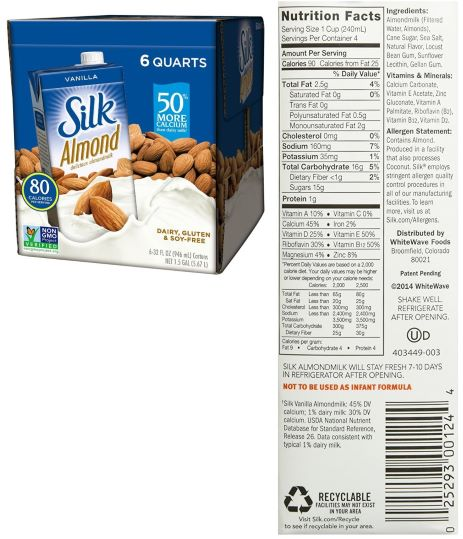 Silk Pure Almond Milk Brand Review