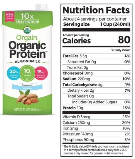 Orgain Organic Plant-Based Protein Almond Milk Review