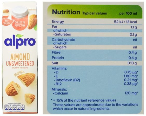Alpro Almond Unsweetened Drink Review (UK Brand)